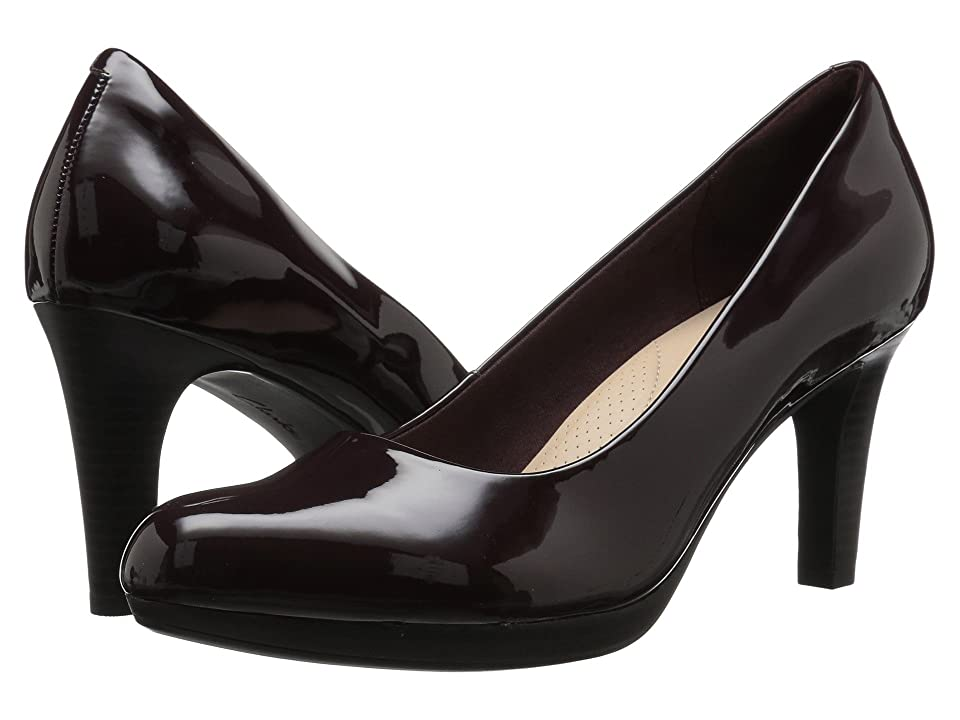 Clarks Adriel Viola (Aubergine Synthetic Patent) High Heels