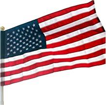 VSVO American Flag Pole Sleeve Banner Style 3x5 Ft - Heavy Duty Outdoor US USA Flags - Embroidered Stars, Sewn Stripes (Fl...