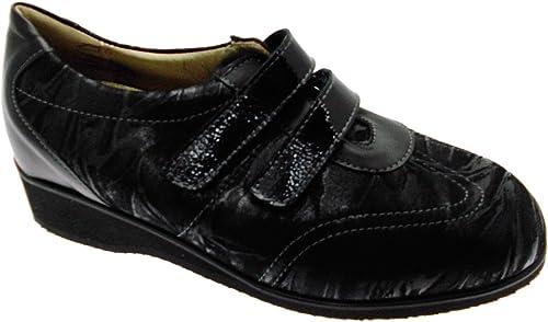 Article L8050 Velcro Noir Extra Large Femme Chaussure orthopédique