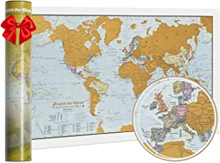 Scratch The World® - Travel Edition Map Print - 42 x 30 cm - Maps International - Map Making for More Than 50 Years