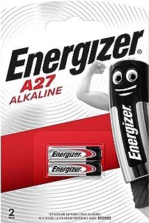 Energizer A27 Alkaline 2'li Pil, Krom/Siyah/Kırmızı