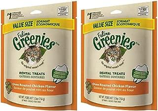 Greenies Feline Dental Treats Oven Roasted Chicken for Cats, 5.5-Ounce