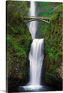 """Multnomah Falls, Oregon, USA Canvas Wall Art Print, 16""""x24""""x1.25"""""""