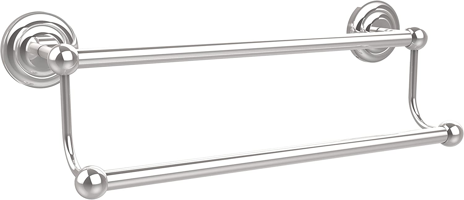 Allied Brass PQN-72 18-PC 18-Inch Double Towel Bar, Polished Chrome