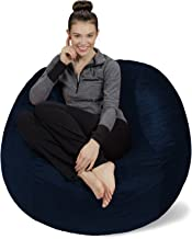 Sofa Sack - Plush, Ultra Soft Bean Bag Chair - Memory Foam Bean Bag Chair with Microsuede Cover - Stuffed Foam Filled Furniture and Accessories for Dorm Room - Navy 4'