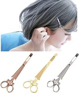 6 Pcs Fashion Personality Small Scissors Hair Clip Bobby Pins Hair Accessories - Cute Barrettes Side Clip Hairpin Liu Hai Clip Headwear for Women (2 x Gold + 2 x Silver + 2 x Rose gold)