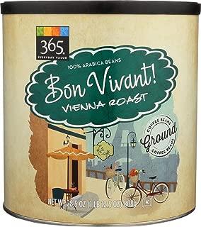365 Everyday Value, Bon Vivant Vienna Roast Ground Coffee - Canister, 28.5 oz