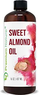 Sweet Almond Oil Carrier Oil - Cold Pressed Pure Natural Body Massage Oils for Essential Oils Mixing, Baby Oil Dry Skin Fa...