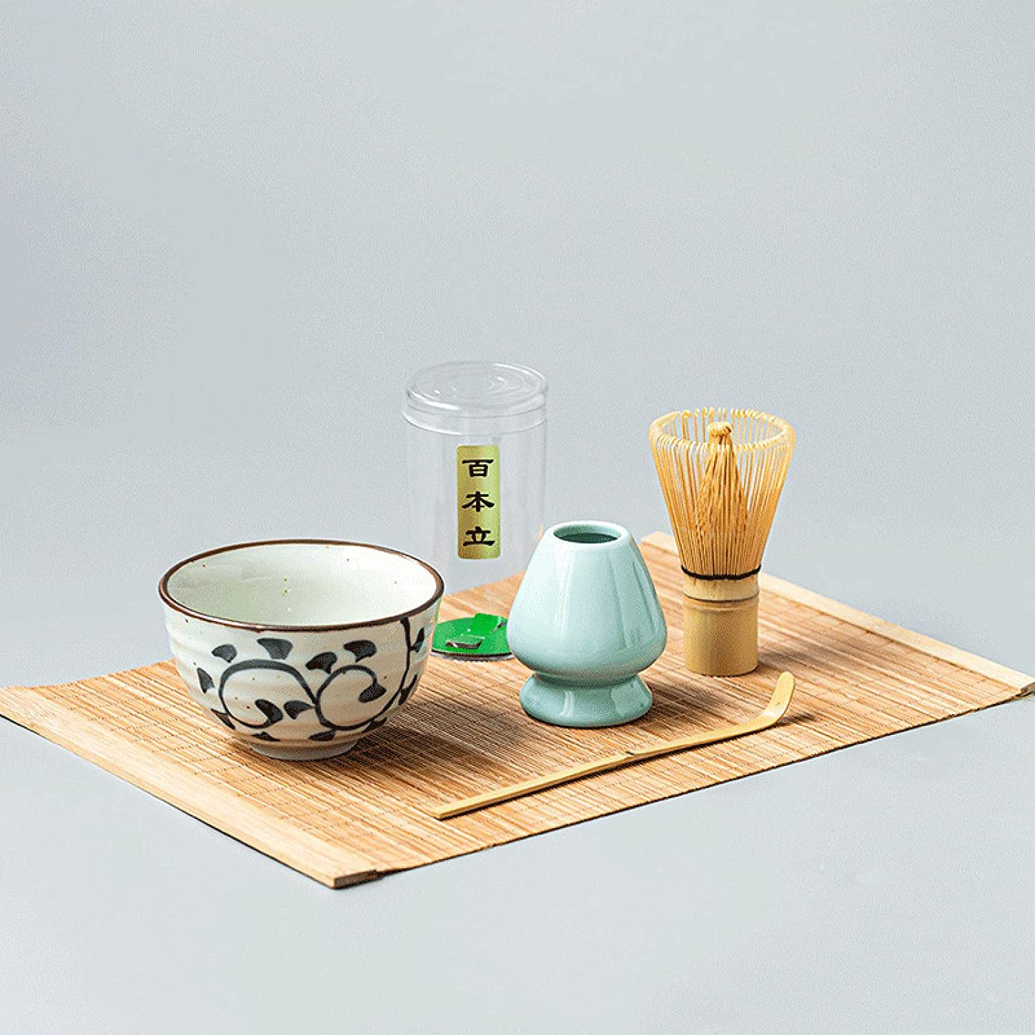 N\C Matcha Tool Set Tea Bowl Bam Tray Bamboo Challenge the lowest price of Japan Spoon Limited Special Price White
