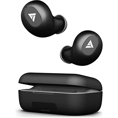 Boult Audio AirBass PowerBuds TWS Earbuds with 120 Hours Total Playtime, Inbuilt Powerbank, Type-C Fast Charging and IPX7 Fully Waterproof (Black)