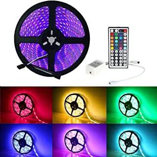 LED Strip Light, iNextStation 16ft/5m SMD5050 300 LEDs 12V Color Changing Flexible Non-Waterproof LED Tape/LED Rope/LED Ribbon 【RGB, Without Power Adapter】