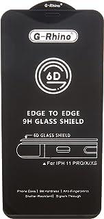 واقي شاشة من الزجاج المقسى بتقنية 9D، باطار اسود وتغطية كاملة لشاشة جوال ايفون اكس وايفون اكس اس 5.8 انش، مُغلف في صندوق ت...