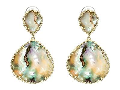 Kendra Scott Kenzie Drop Earrings (Gold/Nude Abalone) Earring