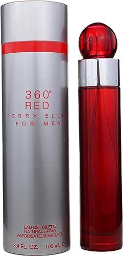 Perry Ellis 360 Red for Men, 3.4 fl oz EDT, Gray