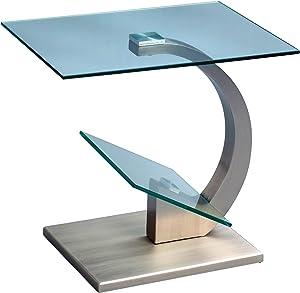 HomeTrends4You, 53, Tavolino, Argento, 38 x 48 x 46 cm