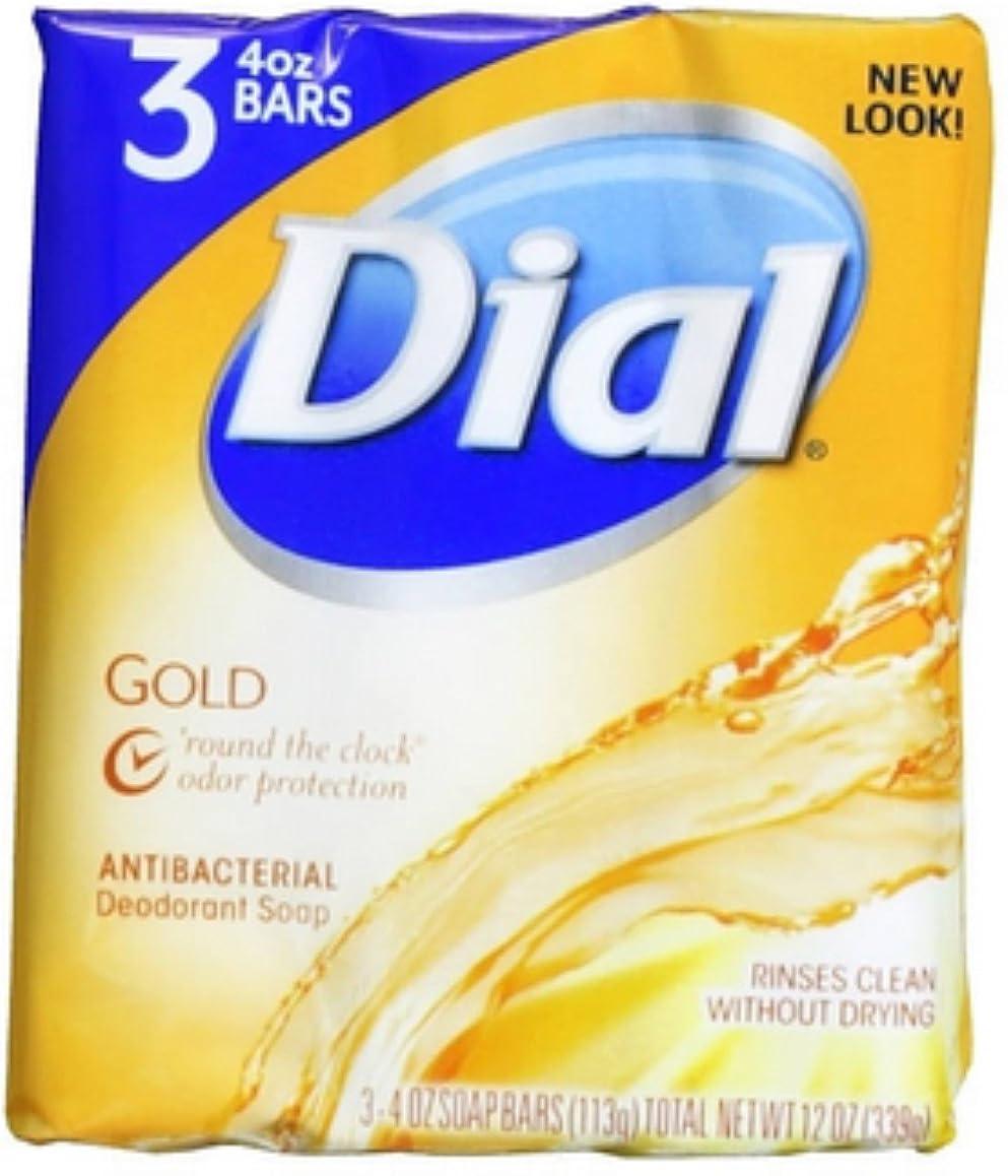 おいしいゆるい単調なDial 抗菌消臭石鹸バー、ゴールド、4つのオズバー、3 Eaは(6パック)