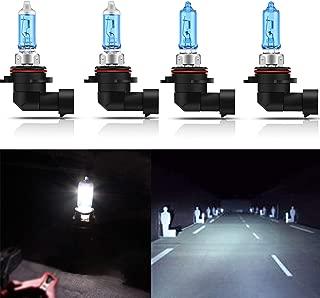 CK Formula (2 Pairs Combo) 9006-HB4 9005-HB3 Super Bright White 5000K Xenon Halogen Headlight Bulbs (High/Low Beam) USA Seller