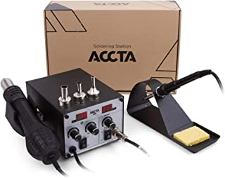 Accta 301 Hot Air Digital Rework Soldering Station Iron Hot Air Gun 450W, 220V for Cell Phone Repair