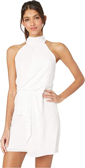 bb4d0b6ee0c0 Sleeveless Mock Neck Dress with Drape Front Detail. 65. Halston Heritage