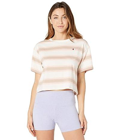 Champion LIFE Heritage Cropped T-Shirt Yarn-Dye Stripe