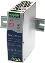 Mean Well SDR-120-48 AC to DC DIN-Rail Power Supply with PFC Function, 48VDC, 2.5A, 120W