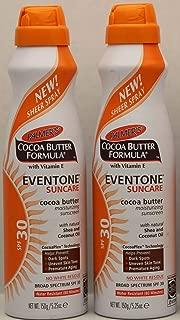 Palmer's Cocoa Butter Formula With Vitamin E, Eventone Suncare Moisturizing Sunscreen, SPF 30, 5.25 Oz (Pack of 2) by Palmer's