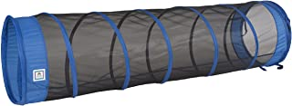 "Pacific Play Tents 20406 Kids The Fun Tube 6-Foot Crawl Play Tunnel, 6` X 19"" Diameter, Blue/Black"