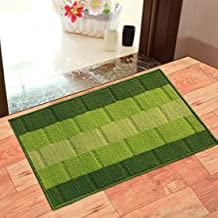 Status Polypropylene Anti Slip Floor Door Mat in Home Kitchen Office Entrance Mats (38x58 cm, Green) -Pack of 1