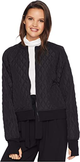 Quilted Short Bomber Jacket