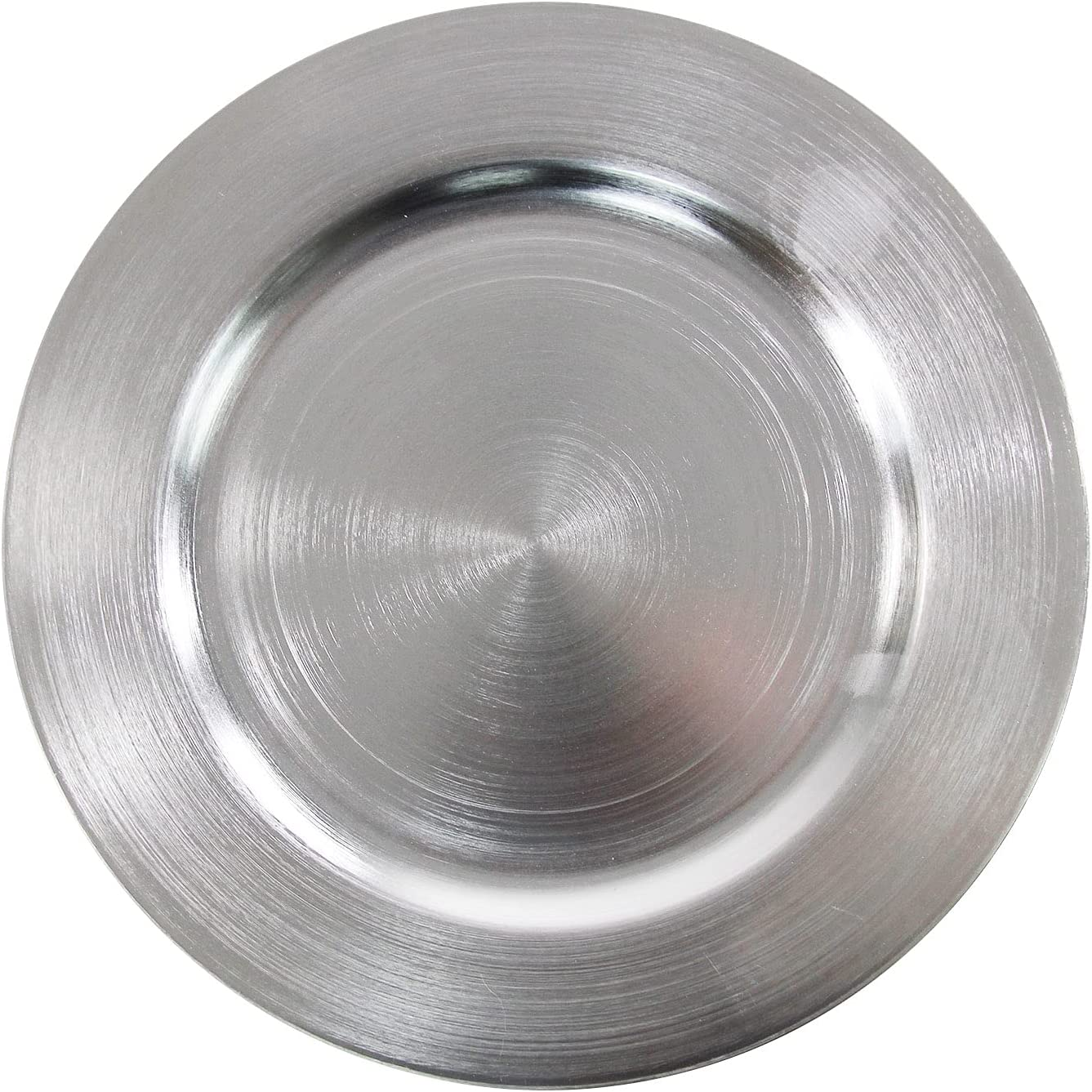 Metallic Silver Charger Plates Rings Free New arrival shipping anywhere in the nation - 13 Plasic 12 Inch pcs Rou