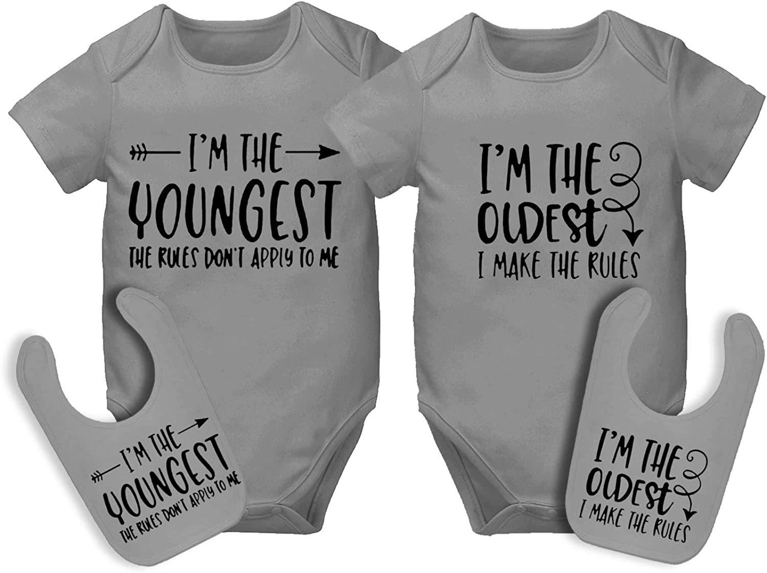 AOUYOA Super beauty Online limited product product restock quality top Baby Twin Bodysuits Sister Outfits You Brother Girls