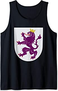 Kingdom of Leon Coat of Arms Crest Spain Portugal History Tank Top