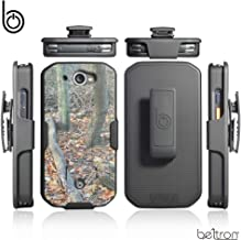 CAT S48c Case with Clip, Heavy Duty Belt Clip with Swivel Clip for CAT S48c (Sprint Verizon Unlocked S48c) Features: Secure Fit & Built-in Kickstand (Durable, Reliable & Lightweight) - Camouflage