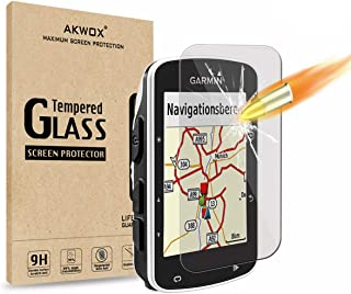 (Pack of 4) Tempered Glass Screen Protector for Garmin Edge 520, AKWOX 0.3mm 9H Hard Scratch-Resistant Protector for Garmi...