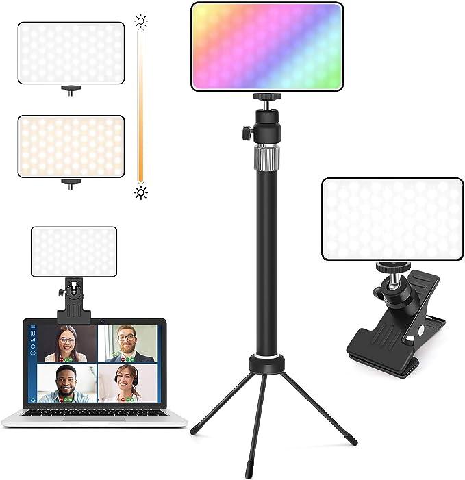 63 opinioni per CoMokin Luce Per Videoconferenze, Selfie Ring Light Clip Colorata Sul Monitor