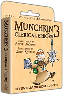 Steve Jackson Games Munchkin 3 Clerical Errors Card Game