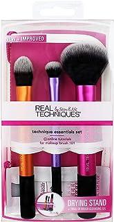 Real Techniques Technique Essentials 2.0 Makeup Brush Set, Purple, 3 pc. (RLT-1400)
