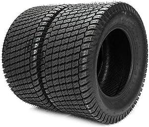 MOTOOS 2Pcs 18 x 7.50-8 Lawn Mower Tire 18/7.50/8 Tires Garden Tires Tubeless 18 7.50-8 4PR