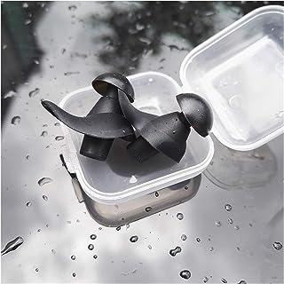 耳を守る イヤープラグ、柔らかい降り耳栓、耳栓、防音、睡眠耳栓、トラベルノイズ 泳ぐ (Color : Black)
