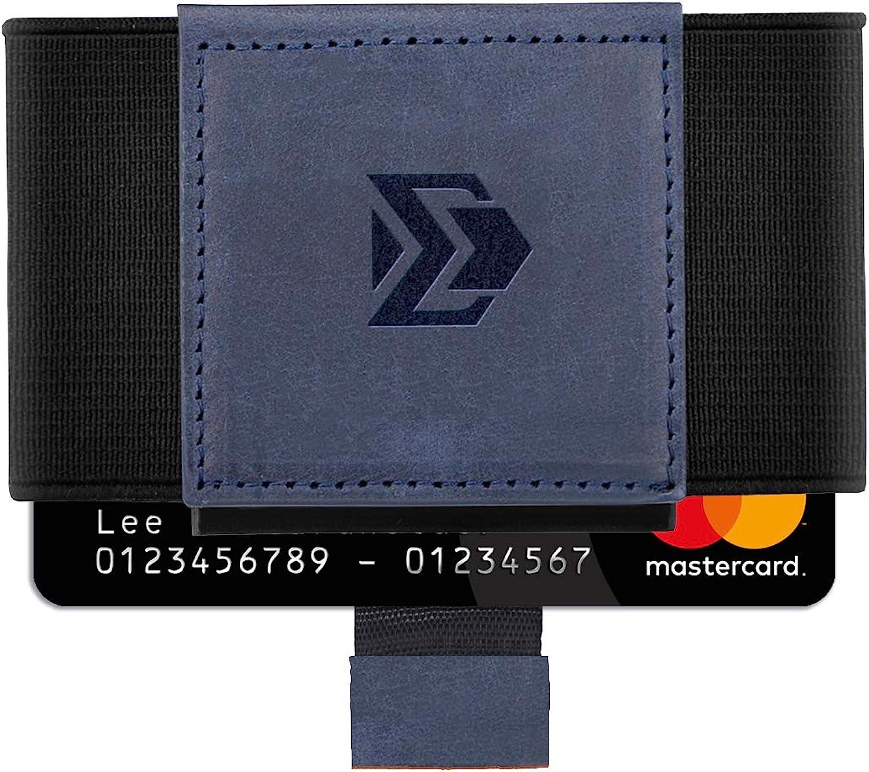Elastic Minimalist Wallet - Slim Front Pocket Credit Card holder
