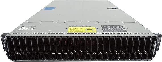 Dell PowerEdge C6320 4-Node 24 Bay SFF 2U Server, 8X Intel Xeon E5-2683 V3 2.0GHz 14C, 128GB DDR4, 8X 100GB SSDs, AHCI SATA RAID, iDRAC 8 Express, 2X 1400W PSUs, Rails (Certified Refurbished)