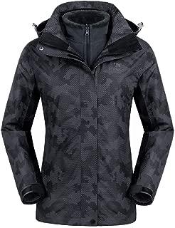 3-in-1 Women's Ski Jacket Waterproof Fashion Mountain Jackets Winter Coat Fleece Inner for Outdoor Hiking