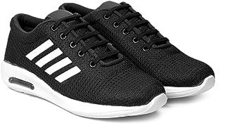 Amico Men's Black Casual Canvas Sneaker Shoes