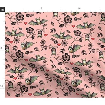 PINK AND OFF WHITE PINK HEART DESIGN PRINTED CHIFFON FABRIC
