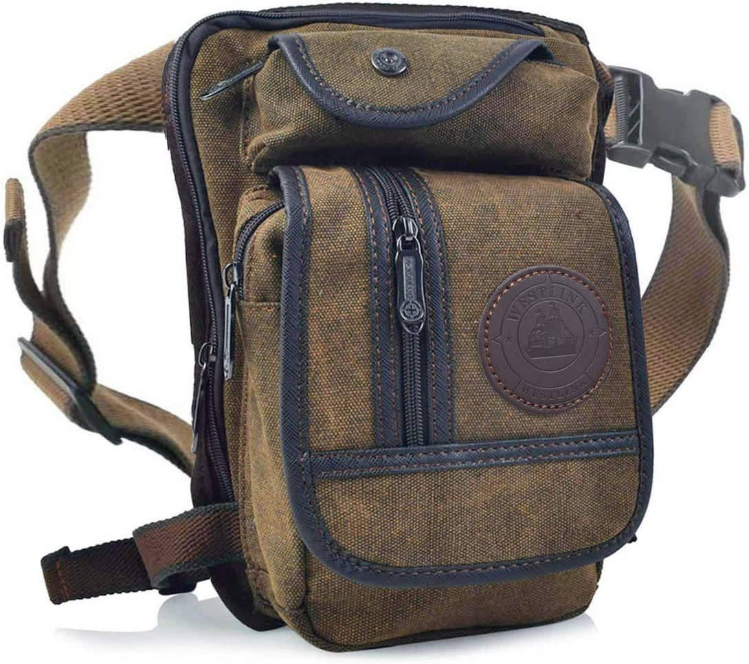 Anjoy Canvas Tactical Our shop OFFers the best service Tucson Mall Military Waist Outdoor Pouch Drop Leg Pack