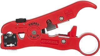 KNIPEX Outil de dénudage pour câbles coaxiaux et de données (125 mm) 16 60 06 SB