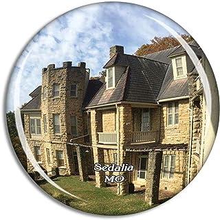 Sedalia Bothwell Lodge State Historic Site Missouri USA Magnet Travel Souvenir 3D Crystal Glass Collection Gift Refrigerat...
