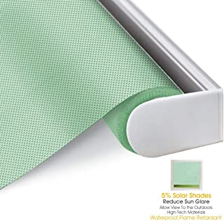 Block 100/% Light Window Shades Blinds for Home Hotel Blackout Roller Shades Custom Made Any Size from 20-98inch Wide Restaurant 20 W x 36 L Apple Green Club UV Protection Enery Saving