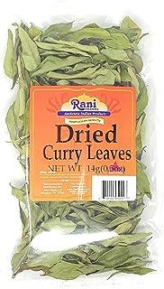 Rani Dried Curry Whole Leaves (Kari Neem Patha) 0.5oz (14g) All Natural | Vegan | Gluten Free Ingredients | NON-GMO
