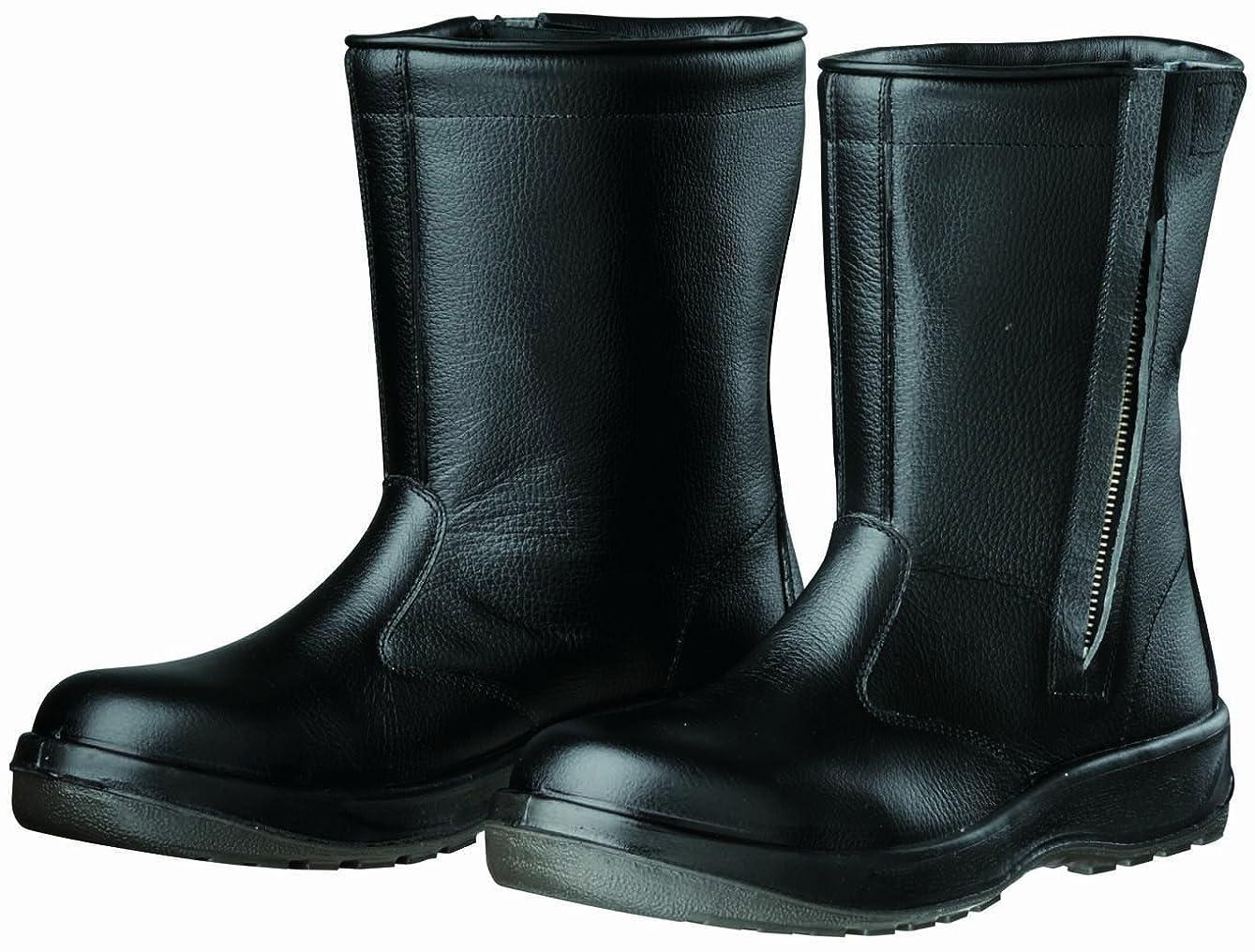 フィヨルド貫入直感Dynasty 安全靴 半長靴 PU二層底 耐滑 かかと衝撃吸収 JIS T8101革製 S種E?F合格(D式) D-7006 D-7006 メンズ